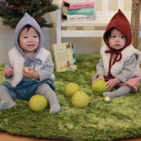 こびと帽子&ボアベスト&かぼちゃパンツセット